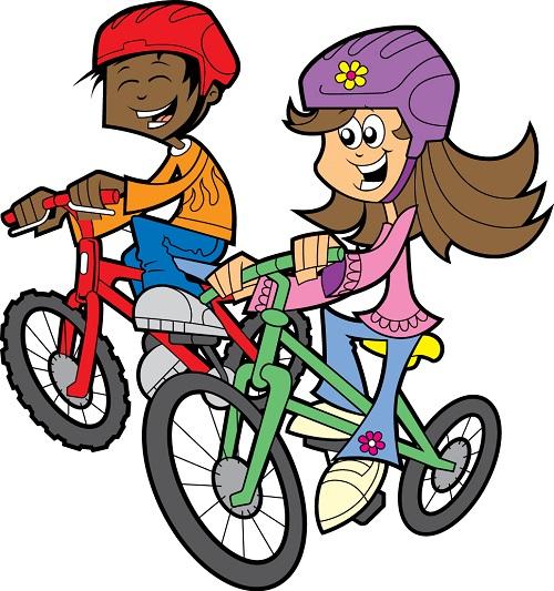 Fourth of july bike. Biking clipart logo