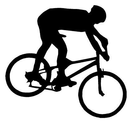 Biking clipart mountain bike. Amazon com biker white