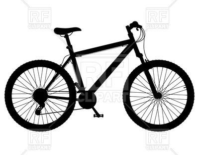 Bicycle clip art silhouette. Biking clipart mountain bike