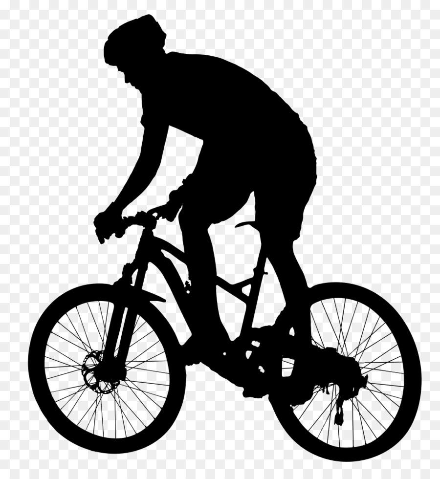 Black and white frame. Biking clipart mountain bike