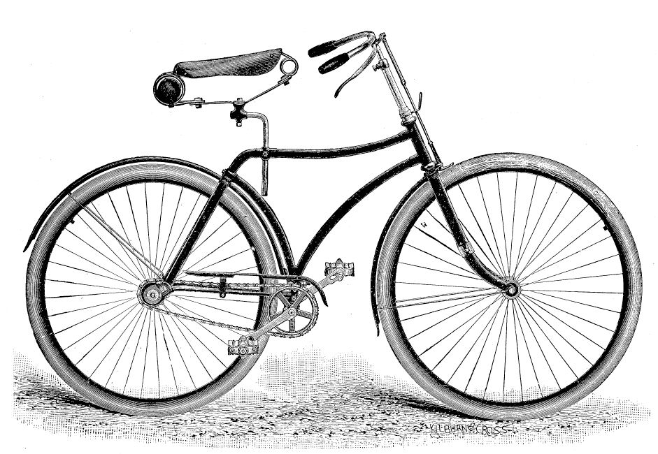 Biking clipart old fashioned. Free bicycle graphics download