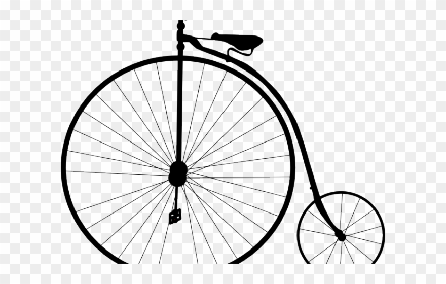 Cycling penny farthing bike. Biking clipart old fashioned