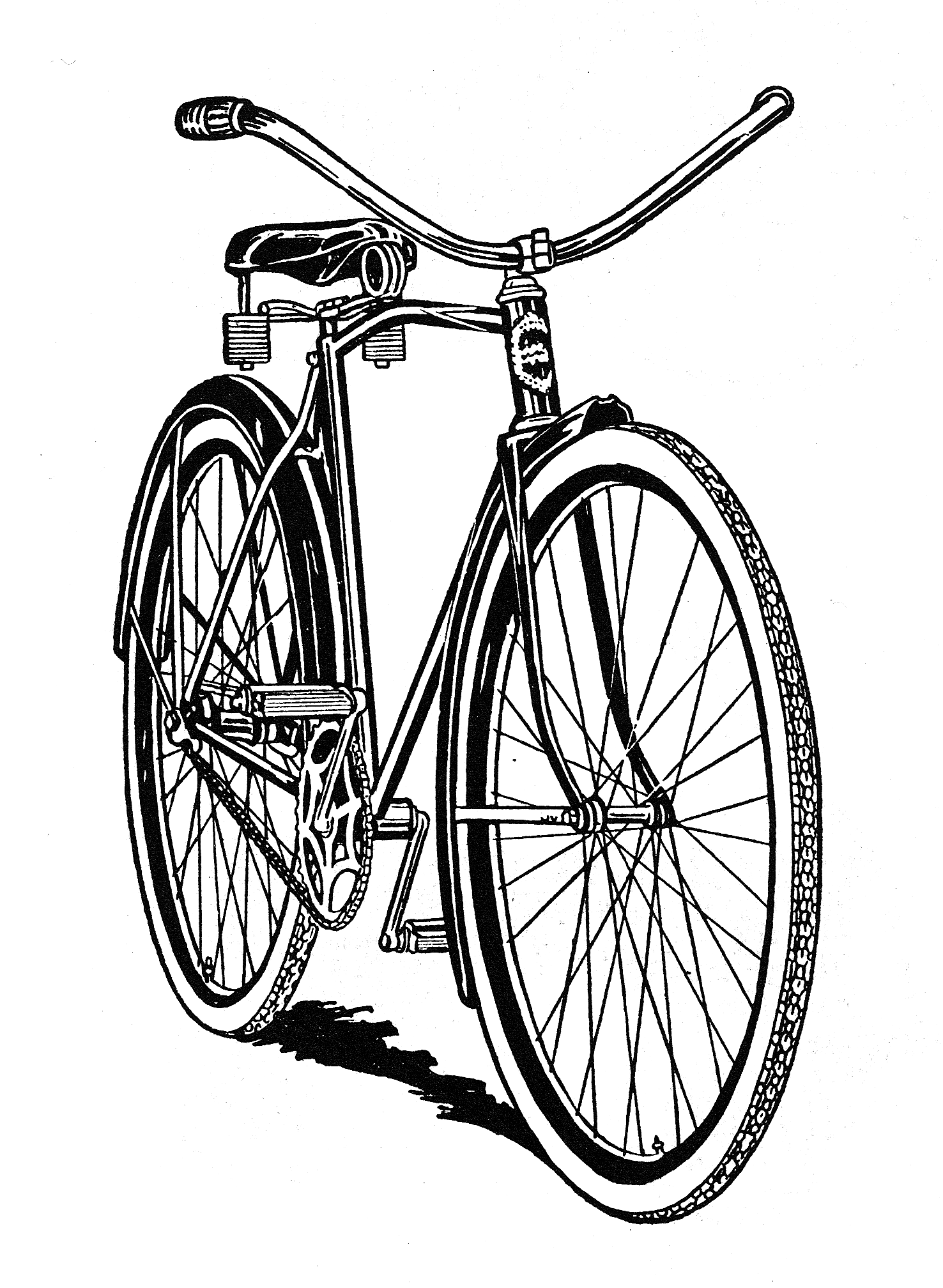 Bicycle free clip art. Biking clipart public domain