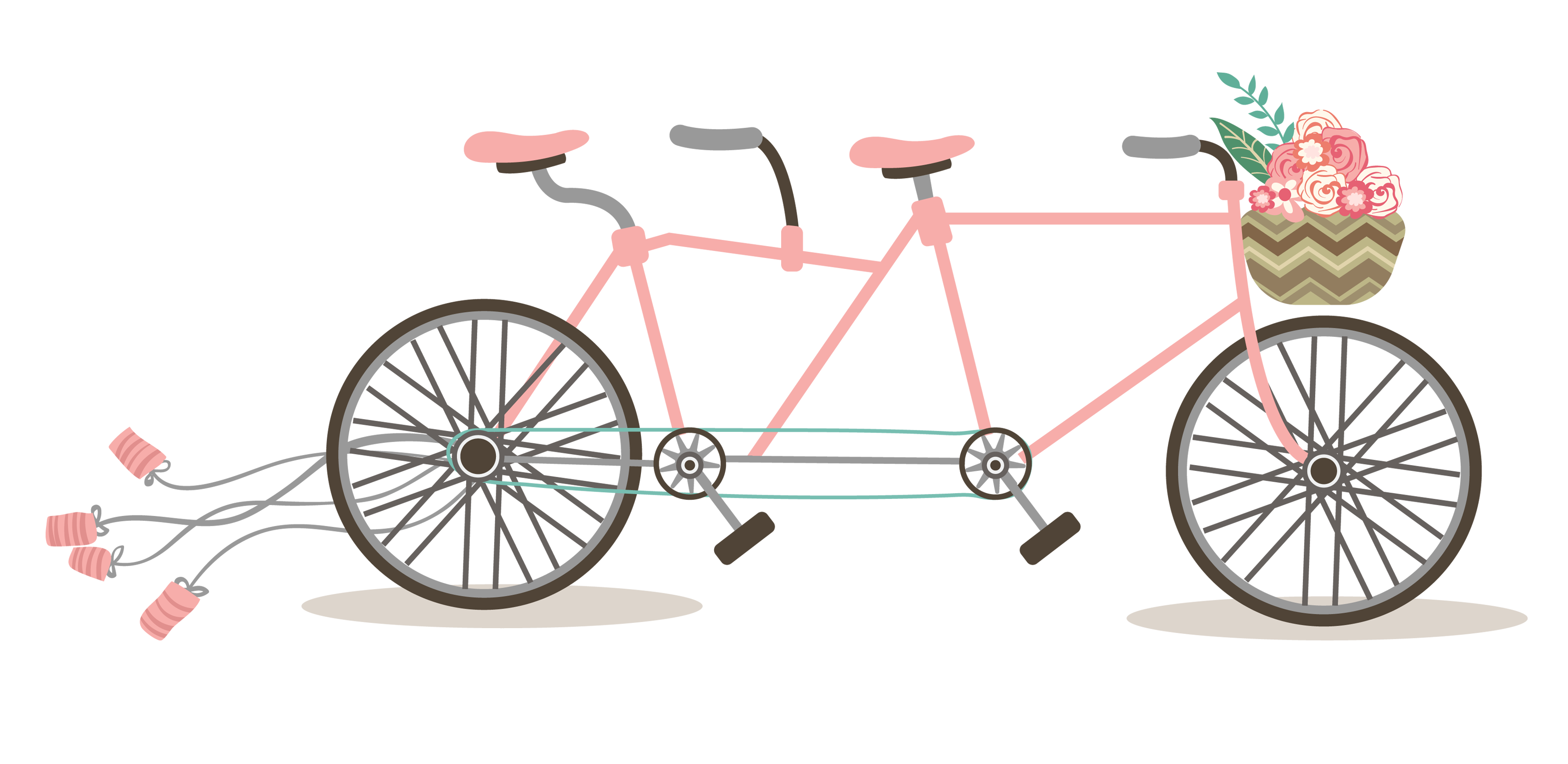 Free romantic bicycle clip. Clipart bike wedding