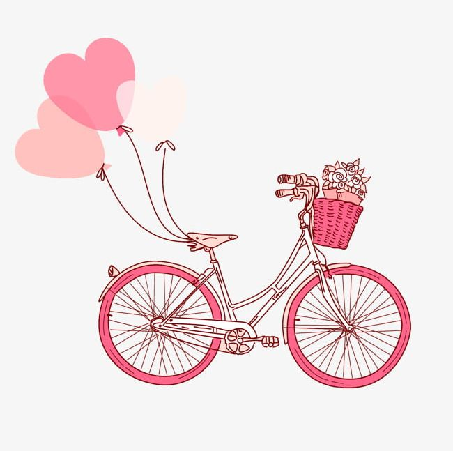 Clipart bike pink. Png bicycle