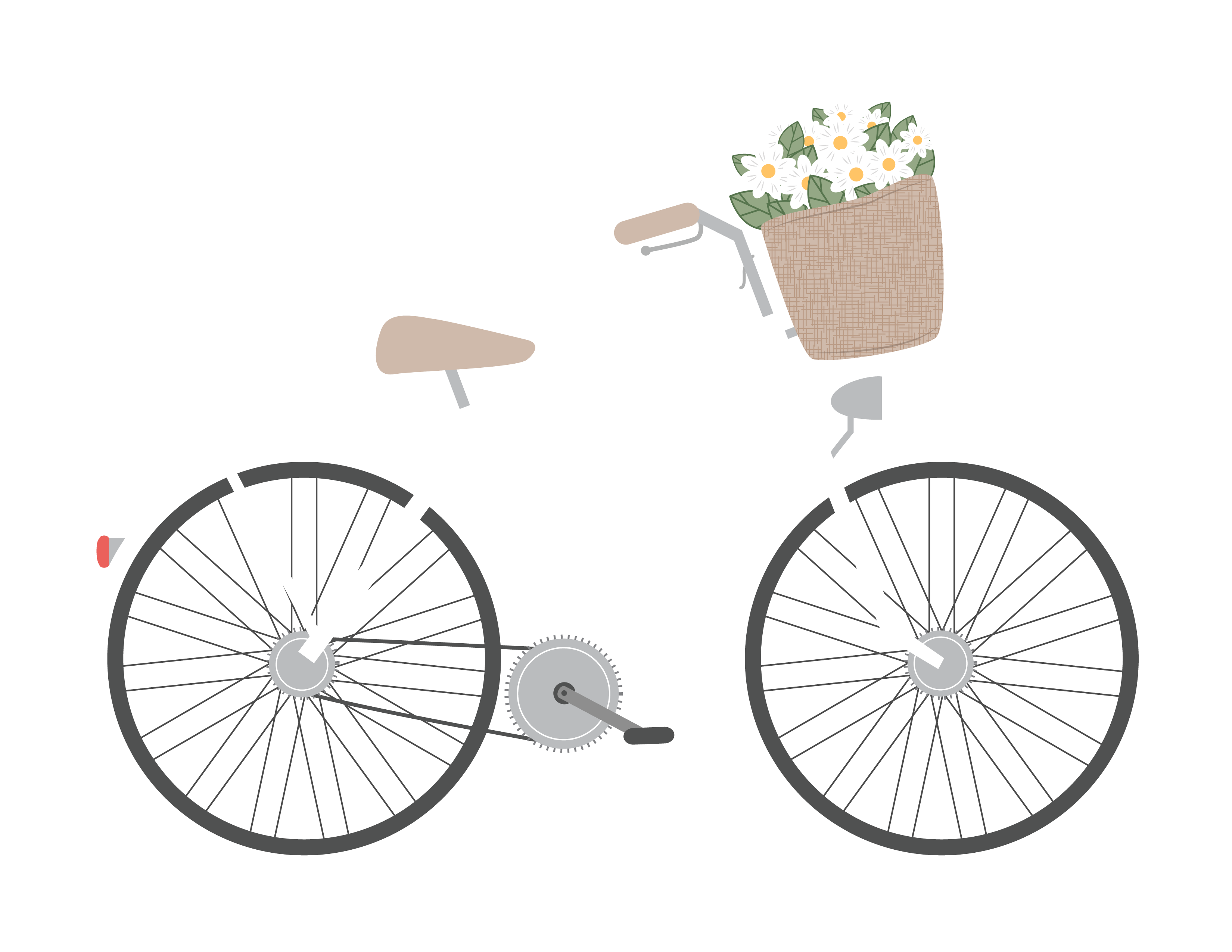 Bicycle clipart illustrated. Free romantic clip art