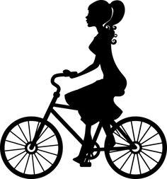 Biking clipart silhouette. Clip art image of