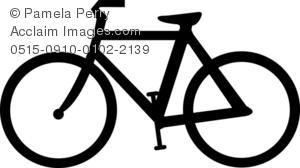 Biking clipart silhouette. Clip art illustration of