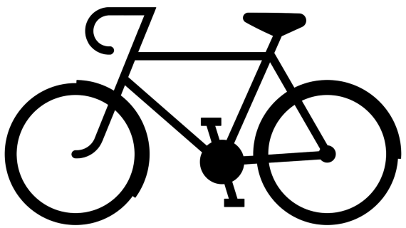 Simple drawing of bike. Bicycle clipart easy