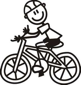 The best bike blog. Biking clipart stick figure