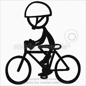 Biking clipart stick figure. Bike riding stickfigurepeople