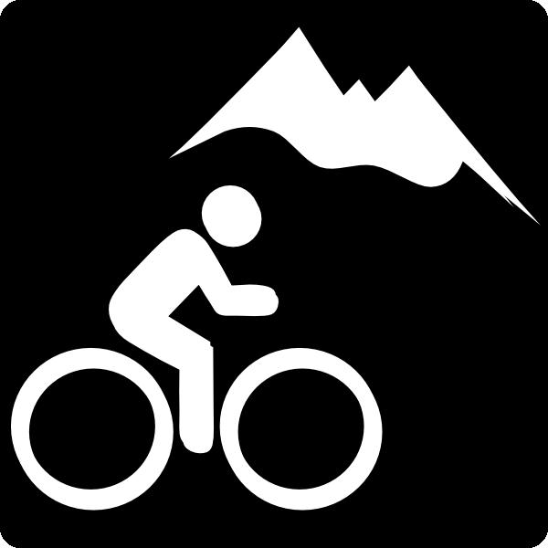Mountain bike clip art. Biking clipart symbol