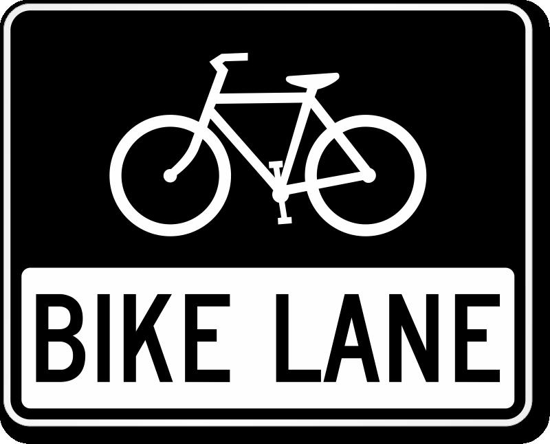 Biking clipart symbol. Bike path signs zoom