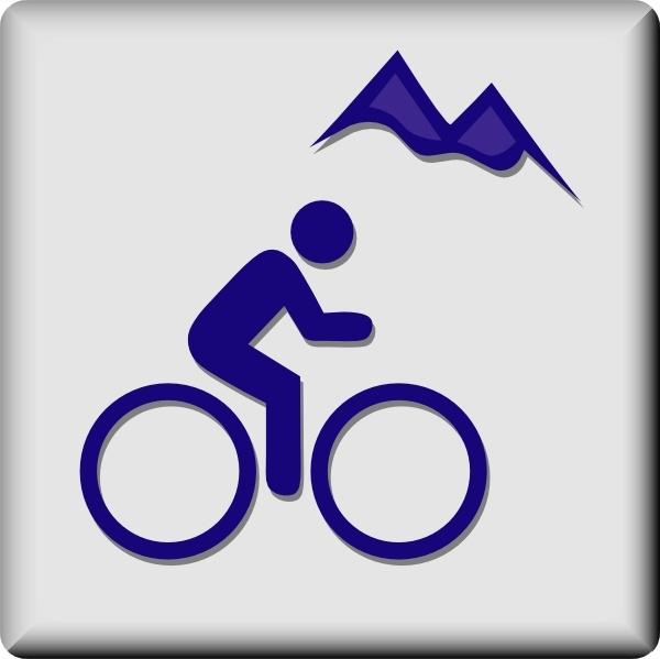 Biking clipart symbol. Hotel icon mountain clip