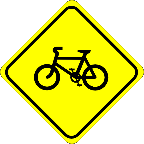 Watch for bicycles clip. Cycle clipart bicycle sign
