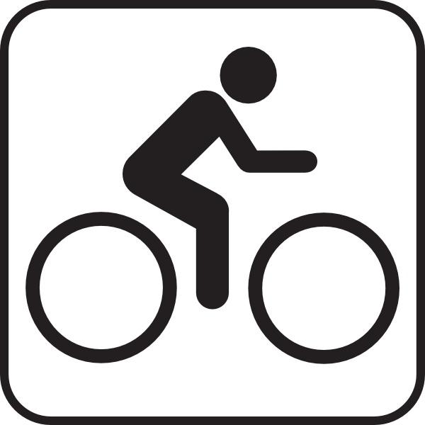 Map symbols bike clip. Biking clipart symbol