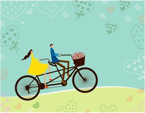 Biking clipart tricycle. Bike free vector download