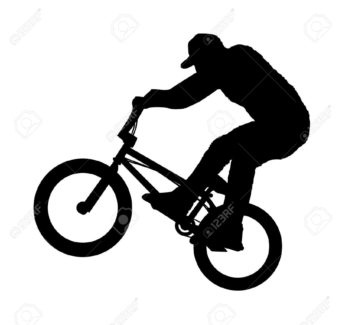 Bike trick collection bmx. Biking clipart vector