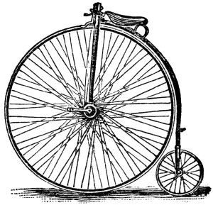 Victor cycle magazine ad. Clipart bicycle old fashioned