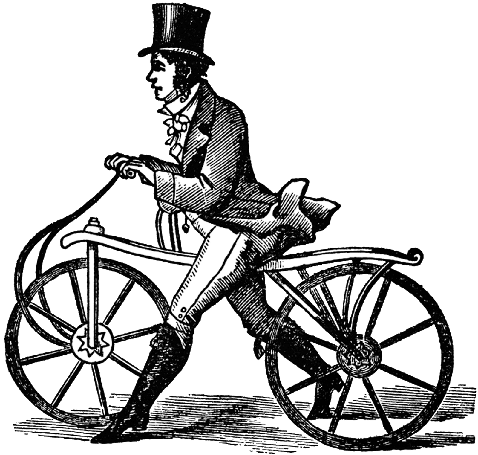 Clipart bicycle hipster. Vintage victorian bike transparent