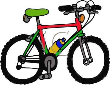 Bike clip art black. Biking clipart word