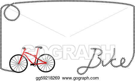 Eps illustration bike frame. Biking clipart word