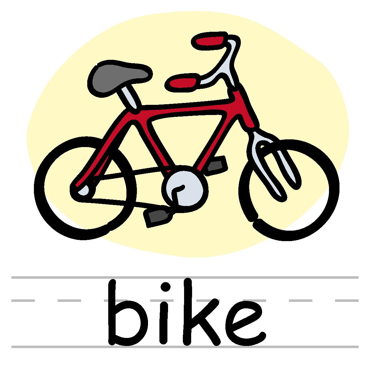 Bike . Biking clipart word