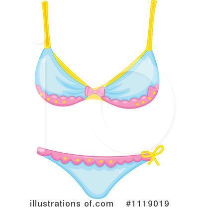 Bikini clipart. Illustration by graphics rf