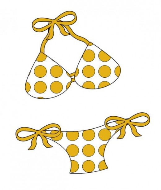 Free summer clip art. Bikini clipart black and white