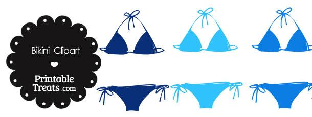 bikini clipart blue bikini