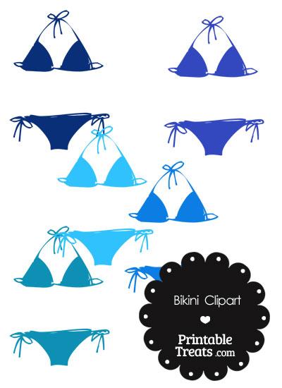 Bikini clipart blue bikini. In shades of printable
