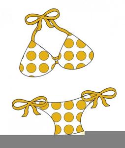 Polka dot free images. Bikini clipart clip art
