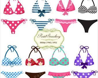 Etsy . Bikini clipart clip art