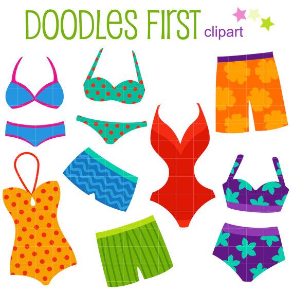 Bikini clipart clip art. Bikinis and swimming trunks