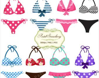 clip art clipartlook. Bikini clipart cute