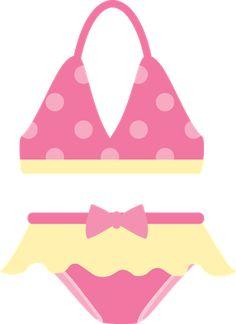 bikini clipart pink swimsuit