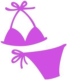 Bikini clipart svg. Praia e piscina minus