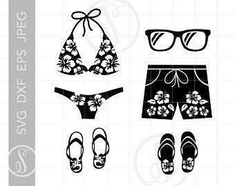 Swimsuit etsy . Bikini clipart svg
