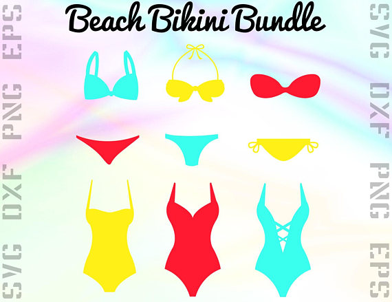 Beach files dxf swimsuit. Bikini clipart svg