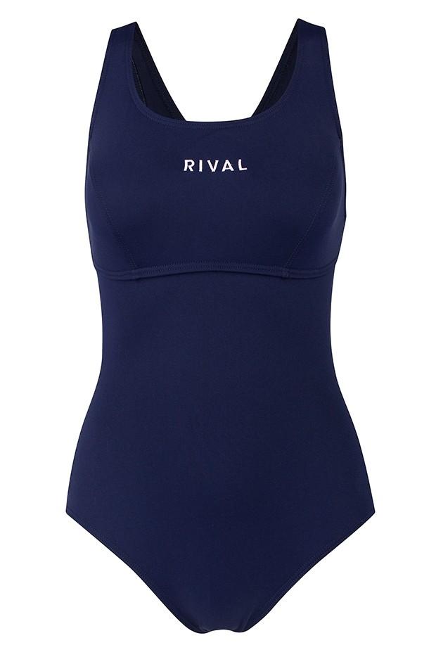 Rival classic crosstrainer navy. Bikini clipart swimming tog