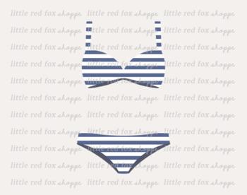 Striped swim suit beach. Bikini clipart swimsuit