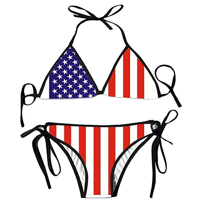 Bikini clipart swimsuit. Amazon com american flag