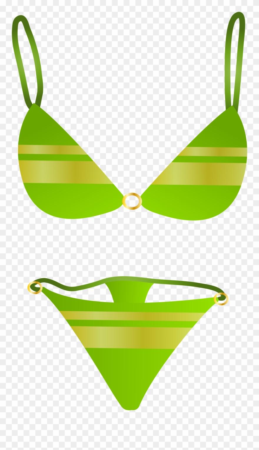 Bikini clipart transparent. Green swimsuit png clip
