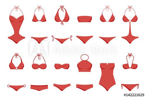 Bikini clipart vector art. Illustration of women s