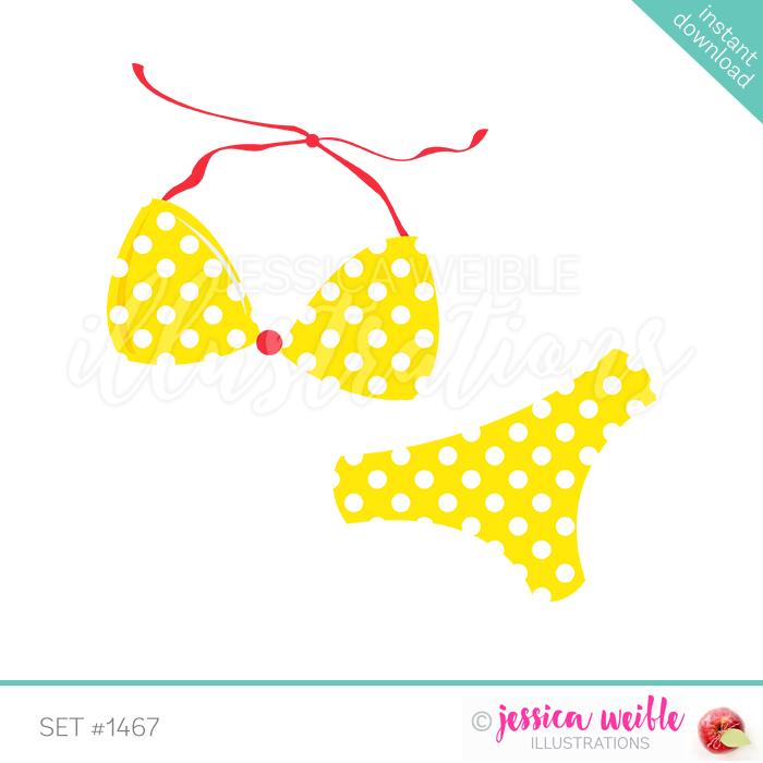 Bikini clipart yellow bikini. For girls singles jw