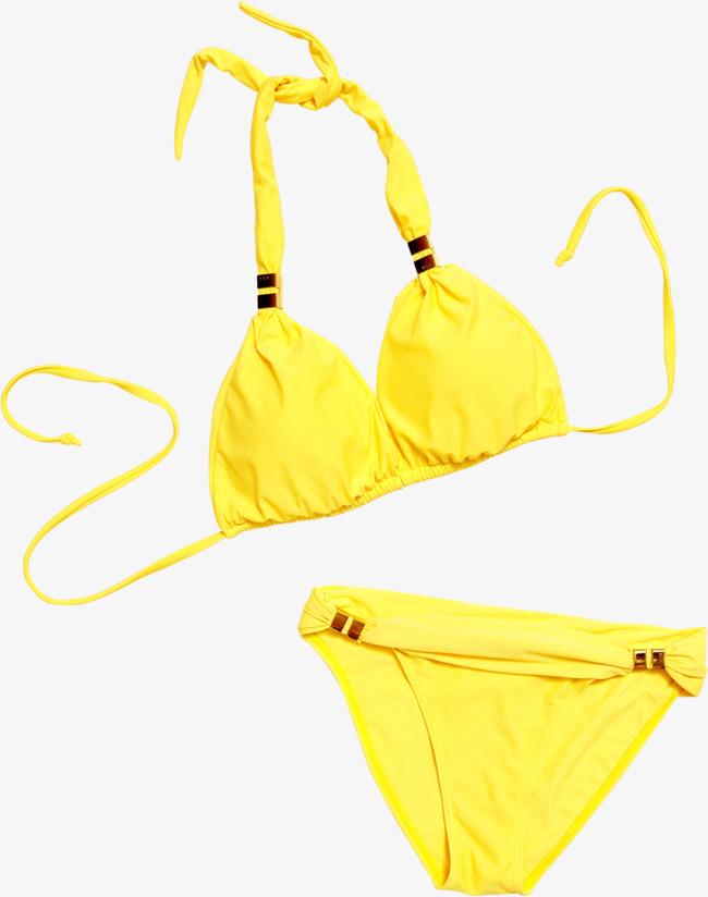 Effect seaside png image. Bikini clipart yellow bikini