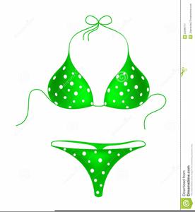 Bikini clipart yellow bikini. Polka dot free images