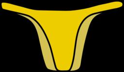 I royalty free public. Bikini clipart yellow bikini