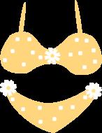 bikini clipart yellow bikini