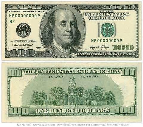 100 clipart money.  dollar bill printable